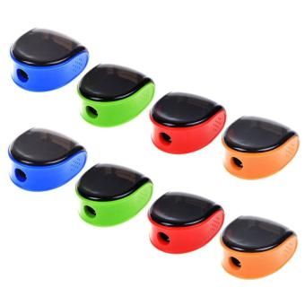 Perfect 8 Pcs Random Color Plastic Manual Pencil Sharpener