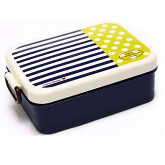 Plastic Lunch Box.Dinner Pail.Thermal Insulation Bento Box.Snack Picnic Box.Fresh Keeping Storage Box.Vegeable & Fruit Box. (Square-Navy) - Intl
