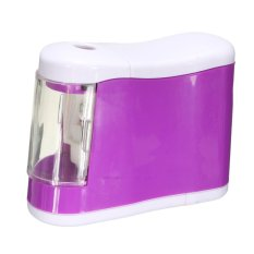 Portable Automatic Electric Desktop Pencil Sharpener Battery Operated For School Purple - Intl