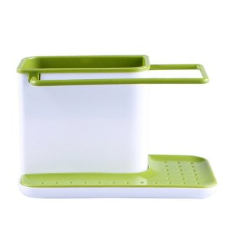 Portable Double Layer Racks Kitchen Cloth Holder Green