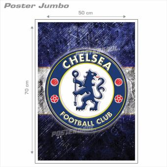 Poster Jumbo Logo Chelsea FC FCL42 50 x 70 cm .
