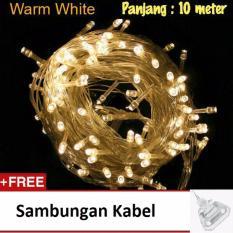 Prime Lampu Hias LED 10 Meter Warm White + Free Colokan Sambungan Kabel