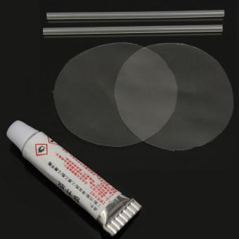 PVC tusuk perbaikan tambalan lem Kit untuk mainan tiup berenangkolam renang udara tambahan kolek - Internasional