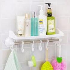 Rak Kamar Mandi Gantungan Toilet Handuk Shampoo Odol Sabun