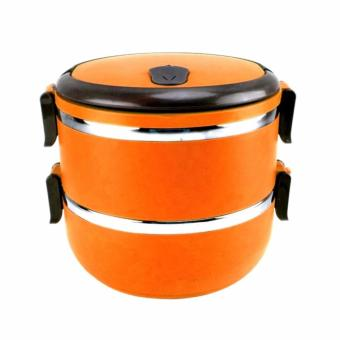 Rantang 2 Susun - Kotak Makan Stainless Steel - Lunch Box 1400 ml - Orange