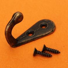 Retro Zinc Alloy Hook European Style Wrought Iron Coat Hat Wall Door With Screws (Intl)