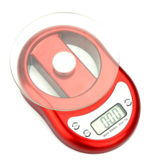 Rondaful Digital Electronic Kitchen Scales 5kg / 1.5000g Weighing Scales With The Clock Timer Function Pink / Silver