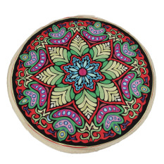 Round Mandala Tapestry Indian Wall Hanging Beach Throw Towel Yoga Mat Red - Intl