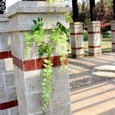 Sanwood® Artificial Wisteria Flowers Vine Silk Flower Wedding Garden Party Hanging Decor (Green) - intl