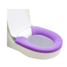 Sanwood Soft Toilet Cover Bathroom Warmer Seat Lid Pad Purple