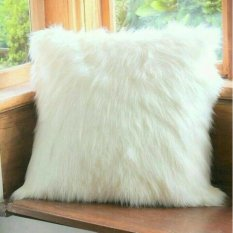 Sarung bantal bulu korea putih uk 40x40