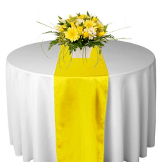 Satin Table Runners 31 X275cm Wedding Party Supply Decorations Yellow