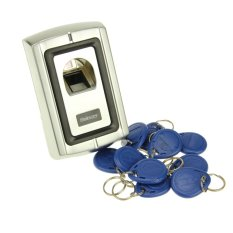 Sebury Brand Security Metal Fingerprint and RFID Reader + 10 ID Keyfobs For Door Access Control Home Office Factory 1000 User