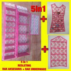 Set 5In1 Rak Tas Rak Sepatu Rak Jilbab Rak Aksesoris Rak Underware Resleting Z0143A