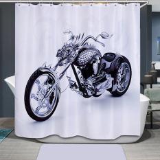 SF Motorcycle Printing Bathroom Shower Curtain Waterproof H1532b3 - Intl
