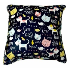 Shafiyyah.Sarban Bantal Sofa 40x40 motif Kucing
