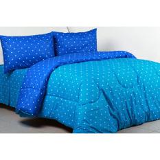 Sierra - Bedcover dan Sprei - Dottie Biru x Dottie Sky
