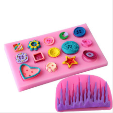 Silicone Frozen Icicle Fondant Mold And Beautiful Button DIY Wedding Cake Lace Mold Sugar Craft DIY Cake Decorating Mold - Intl