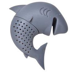 ... Sanwood Home Source Silicone Shark Infuser Loose Tea Leaf Strainer Herbal Spice Filter Diffuser Grey