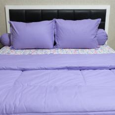 Sleep Buddy Set Sprei dan Bed Cover Little Mermaid Purple CVC