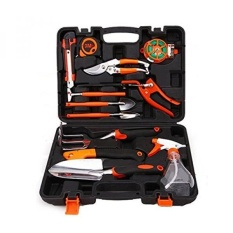 Sokey 12 Pieces Garden Tool Sets Household Tool box Hand Tool Kit with Plastic Toolbox Storage