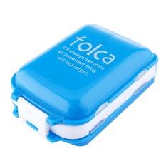 Sort Folding Vitamin Medicine Tablet Drug Pill Box Case Container Transparent