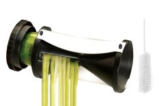 Spiral Slicer - Vegetable Spiralizer - Zucchini Spaghetti Pasta Maker - Spiral Vegetable Slicer - Noodle Maker - Spiral Vegetable Cutter - Cleaning Brush - Black - Intl