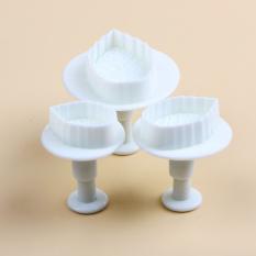 Sporter Cake Leaf Plunger Sugarcraft Mold 3pcs