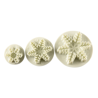 Sporter Cake Plunger Snowflake Sugarcraft Cutter Mold 3pcs