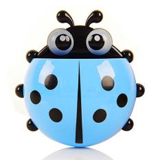 Sporter Toothbrush Ladybug Wall Suction Holder - Blue (Intl)