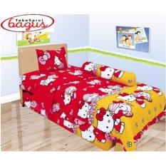 Sprei Lady Rose Single 120 Hello Kitty Red
