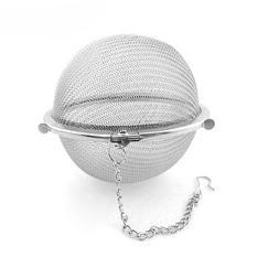 Stainless Steel Tea Ball Strainer Mesh Infuser Filter Sphere Locking Accessory Tool Kitchen 5.5Cm