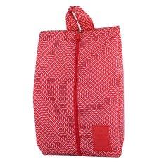 StarHome Organizer Sepatu - Tas Sepatu - Korean Shoes Organizer Simple Bag Motif V2 Merah
