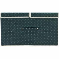 StarHome Rak Kain Jumbo Polcadot 2 Sisi - Storage Box - Kotak Serbaguna - Kotak Pakaian - Box Pakaian Portable - Hijau Tua