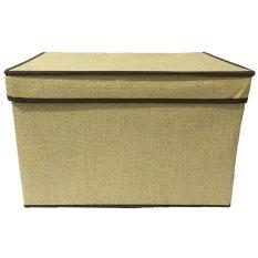 StarHome Rak Kain - Storage Box - Kotak Keranjang Baju Besar - Kotak Pakaian Besar - Box Pakaian Besar Portable V2 - Coklat Muda