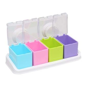 ... StarHome Rak Tempat Bumbu Seasoning Box Serbaguna Tempat Bumbu Gantung 3 Buah