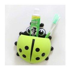 StarHome Tempat Gantungan Sikat Gigi Odol - Kumbang - Kuning