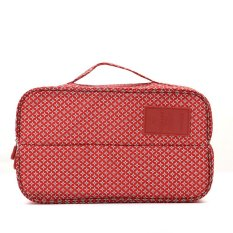 StarHome Tempat Sepatu Dan Underwear - Korean Partition Shoes And UnderWear Organizer Bag Motif V2 Merah