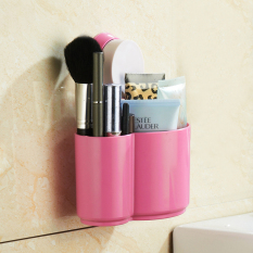Strong Sucker Bathroom Storage Rack Glove Box - Pink