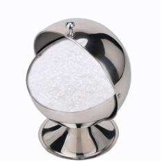 Sugar Bowl Spherical Stainless Steel Kitchen Spice Bottle Flip Cup Sugar Paste - Intl