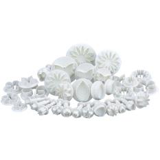 SuperCart Sugar Craft Cake Decorating Tool Cake Mold Fondant Plunger Cutter 33 Piece Set (White) (Intl)