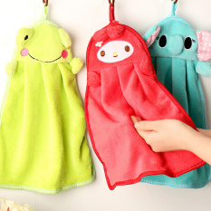 T Cartoon Superabsorbent Hand Towel Hanging Kitchen Towel Creative Twist Super Soft Lovely Thick Dry Hand Towel Color Ship In Random