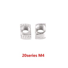 T-slot Hammer Head Nut Zinc Plated Carbon Steel Fastener For Aluminum Profile (EU20-M4*10*6) - intl