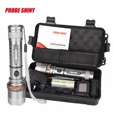Tactical Flashlight XM-L T6 LED Zoomable Torch Lamp X800 Light Kit shadowhawk - intl