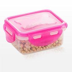 Technoplast Lock Four Container - Tempat Makan Merah Muda