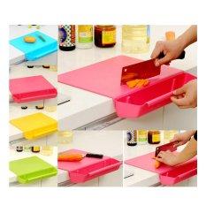 Telenan Instan Memotong / Papan Memotong Sayur Buah Daging Multifungsi / Cutting Board CB-01 - Blue