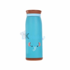 Termos Karakter Animal Elephants Stainless Steel 500 ml - Biru