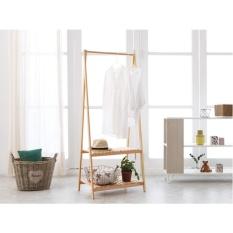 The Olive House - Gantungan Baju Bambu 2 Susun