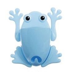 Toothbrush Holder Cute Blue Frog Model Toothbrush Holders (Blue)