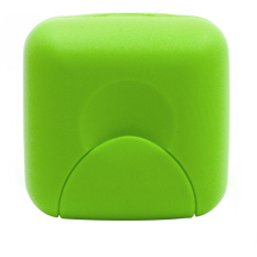 Travel Plastic Soap Box Dish Holder Container Storage Box with Lock Small Size Green (Intl)